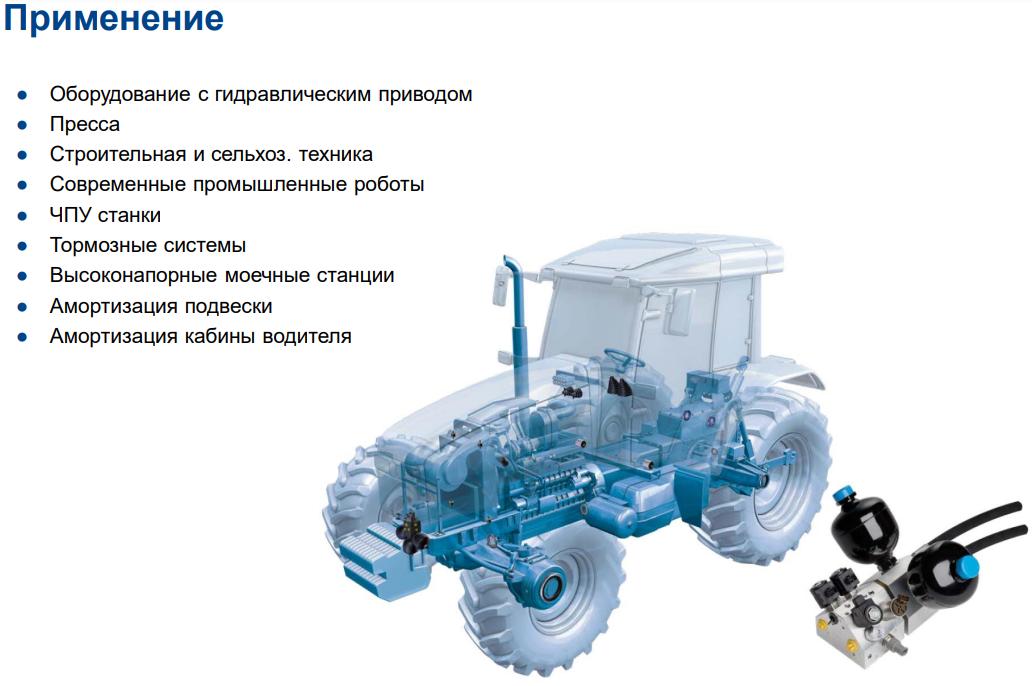 Гидроаккумуляторы Применение